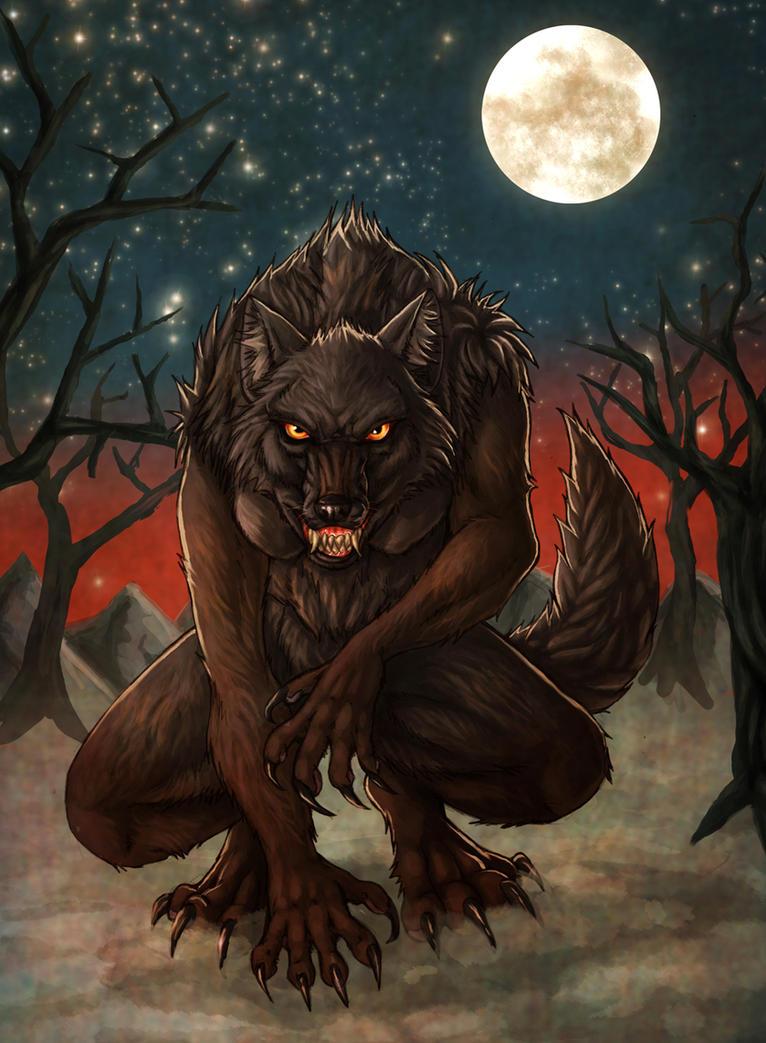 Revenge is a Dish Best Served Bloody (Gunter, Orange) Black_female_werewolf_by_fiszike-d5u3o05
