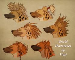 Gnoll Hairstyles by LadyFiszi