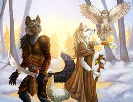 Fantasy Foxes - The Famel by LadyFiszi