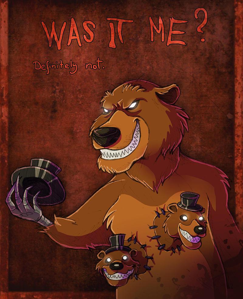 Five nights at Freddy's 4 fanart- Nightmare Freddy by fiszike