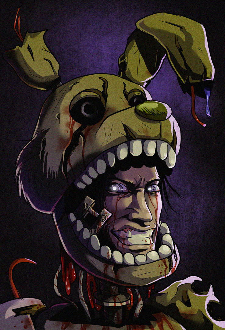 Fnaf off with the mask springtrap by ladyfiszi on deviantart