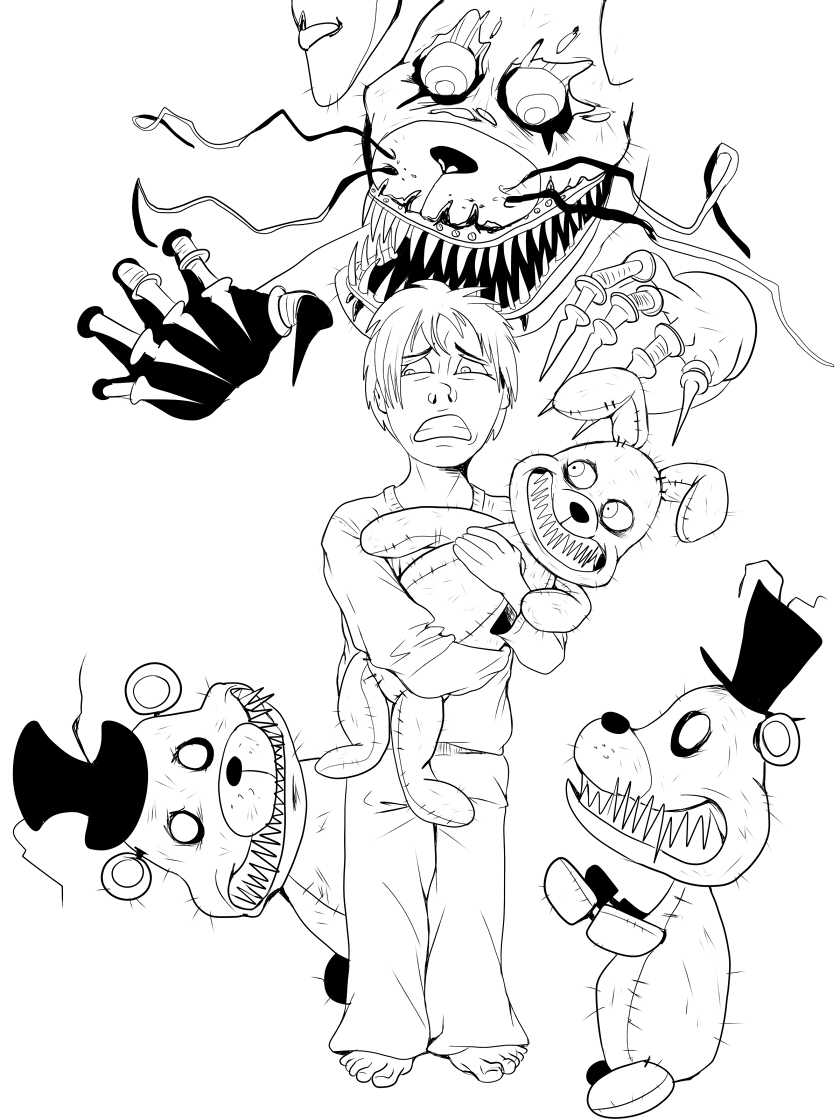 Fnaf 4 nightmare plushies teaser by ladyfiszi on deviantart for Fnaf coloring pages nightmare
