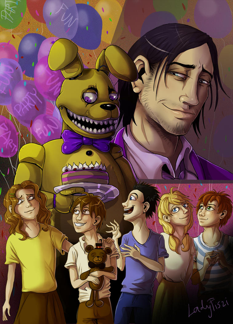 FNAF - Someone Lured Them Away In a Bunny Costume by LadyFiszi