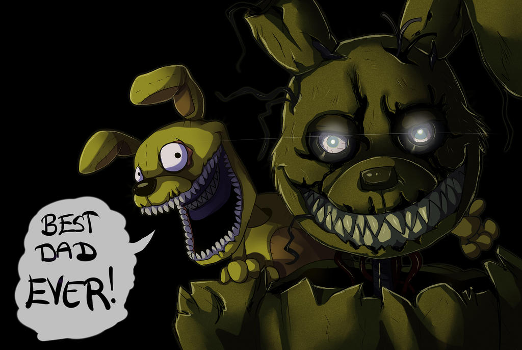 FNAF - Springtrap and Plushtrap by LadyFiszi