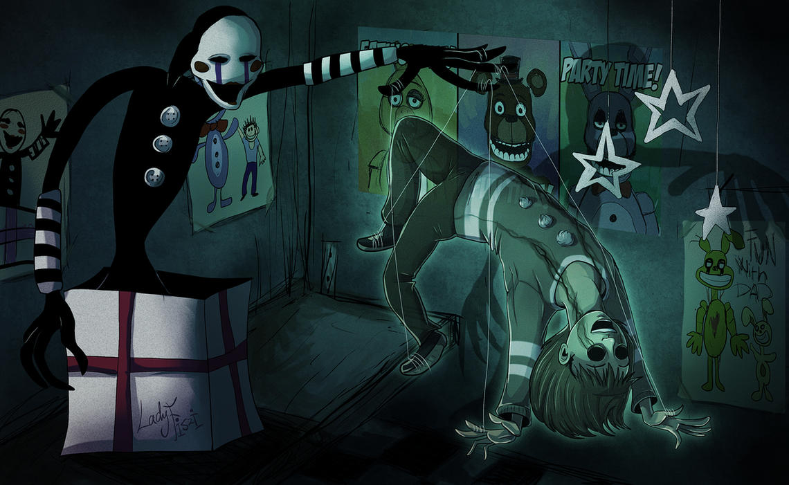 Fnaf puppet and their ghost by ladyfiszi on deviantart