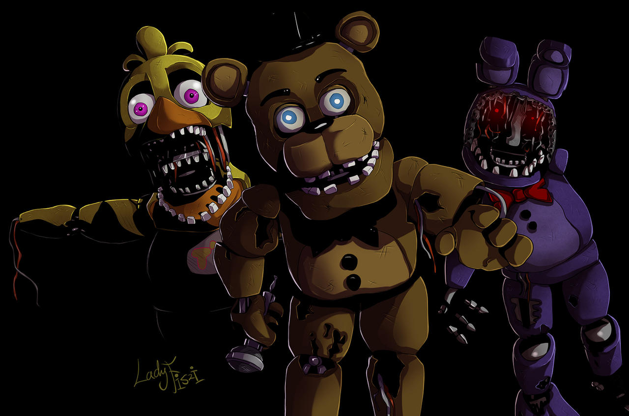 Withered animaronics fnaf 2 by