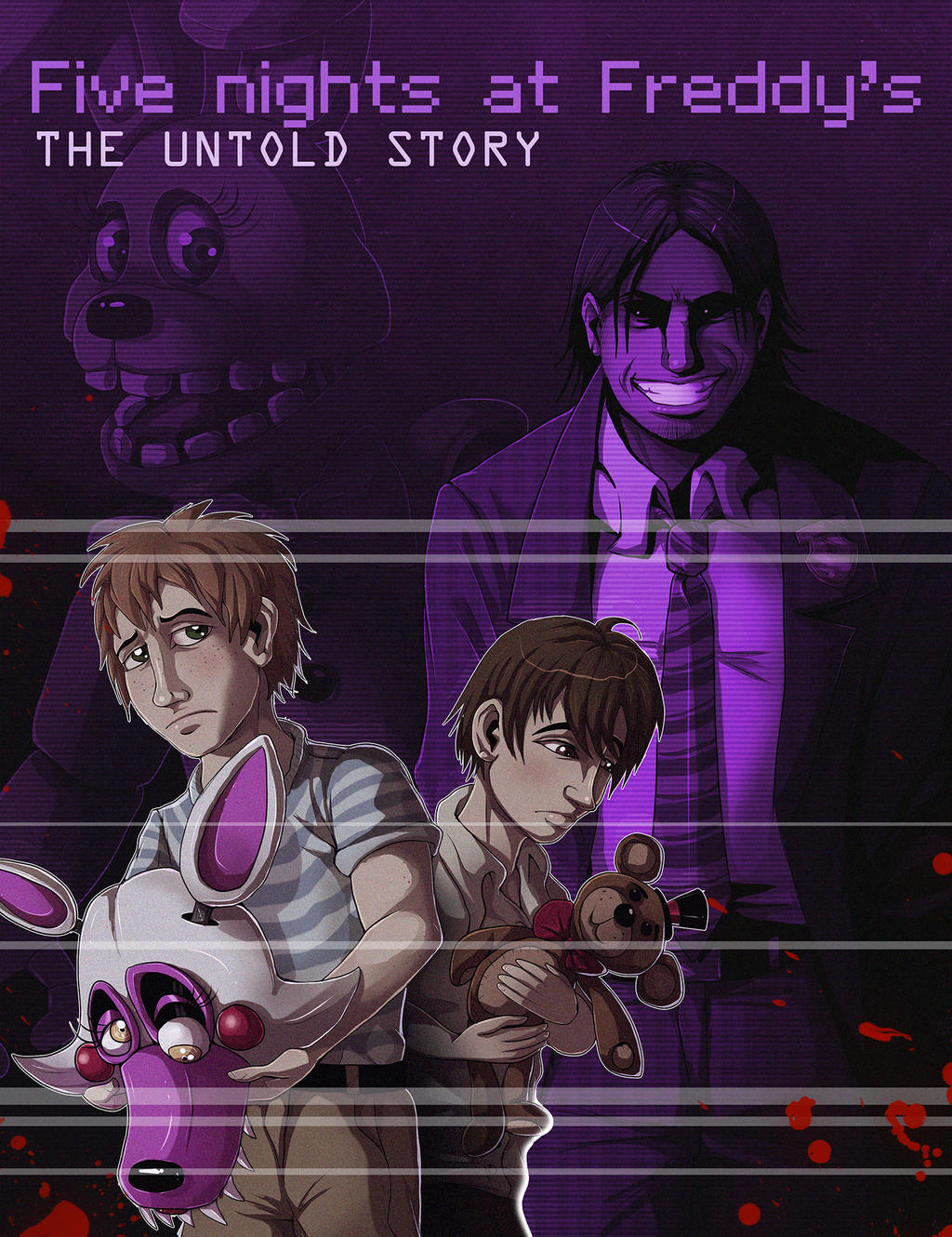 Fnaf book cover and release date for the book by ladyfiszi on