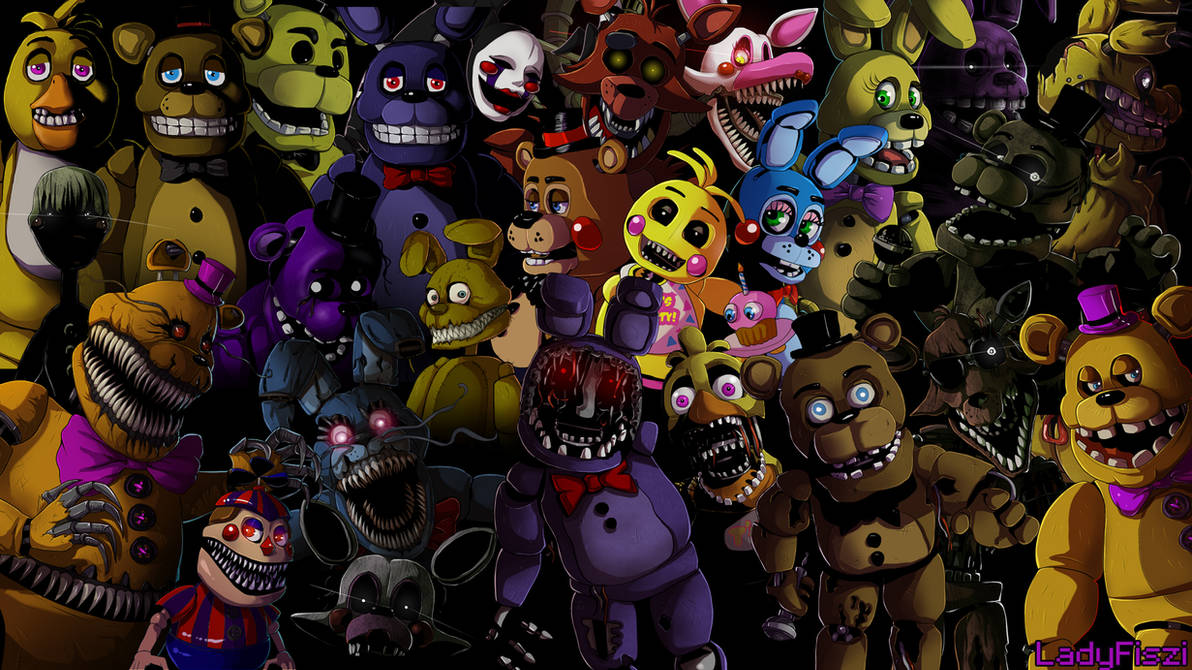 Five nights at Freddy's animatronics wallpaper by LadyFiszi ...