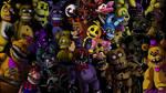 Five nights at Freddy's animatronics wallpaper