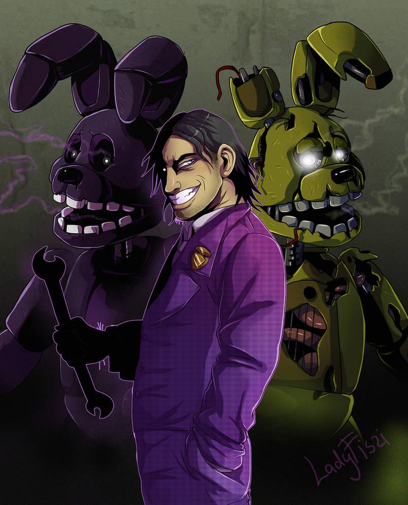 FNAF - purple man by LadyFiszi on DeviantArt