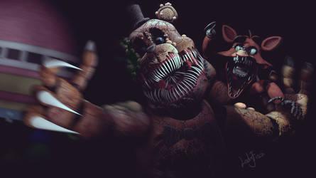 Twisted Freddy vs Foxy - SFM