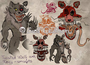 Concept art for the Wolf and Twisted Foxy
