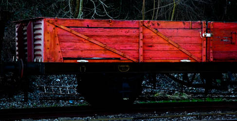 A Red Train Carriage