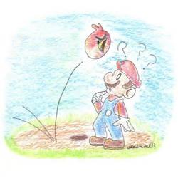 Daily Drawing 11: Mario's Strange Encounter