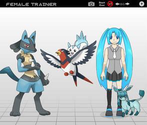 Hatsune Miku Pokemon Trainer by TideCrescent1999