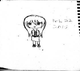 Female Chibi by TideCrescent1999