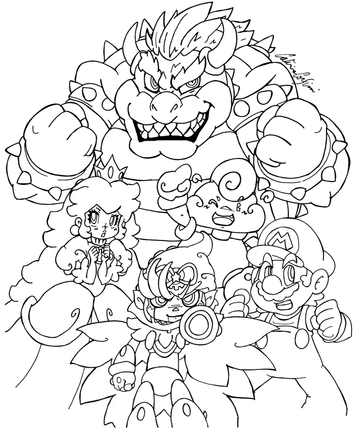 mario rpg lineart by supercaterina on deviantart