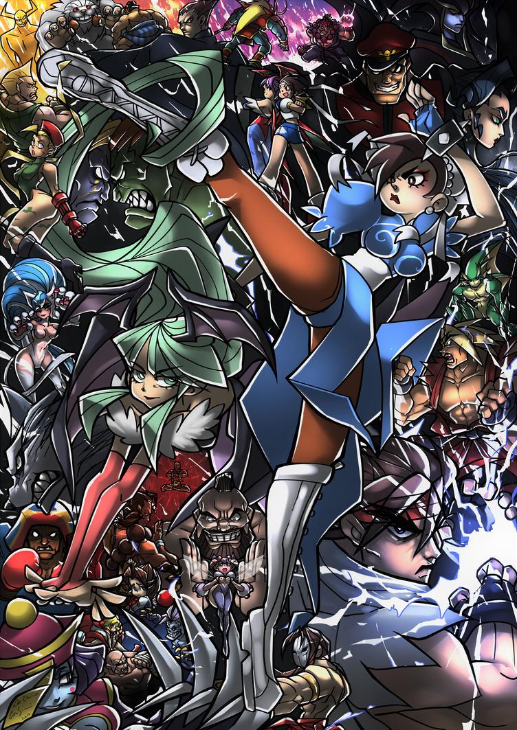 Street Fighter VS Darkstalkers by SuperCaterina