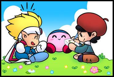 Kirby's adventure break by SuperCaterina