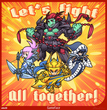 Let's fight all together! by SuperCaterina