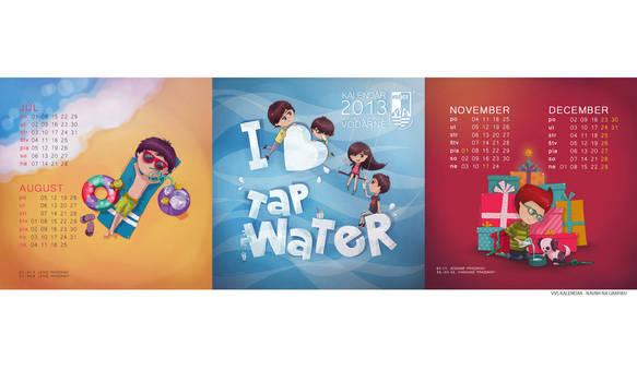 graphic design of the calendar