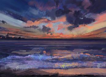 Sunset photostudy by RainbowPhilosopher