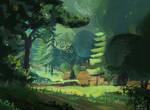 Stylized forest