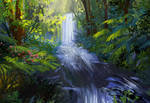 Photostudy waterfall