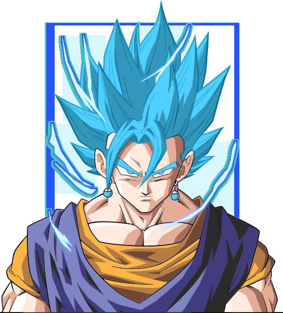Vegito super saiyan Blue by Shizen-PhantomHeart on DeviantArt