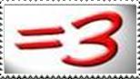 Equals Three Stamp by THX1085