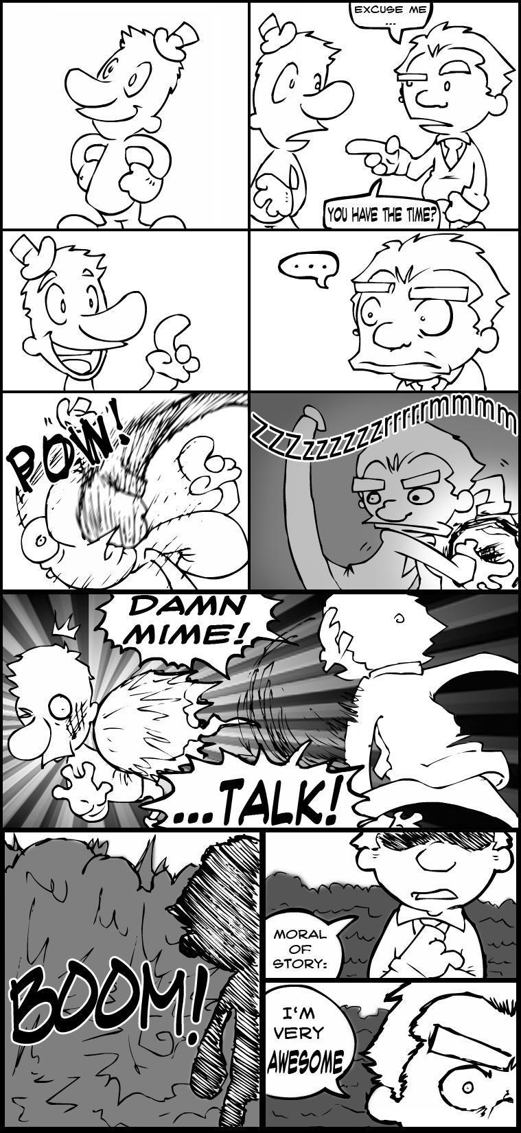 I Hate Mimes lol by Gabe27C