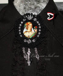 Victorian ladeh brooch by zeloco