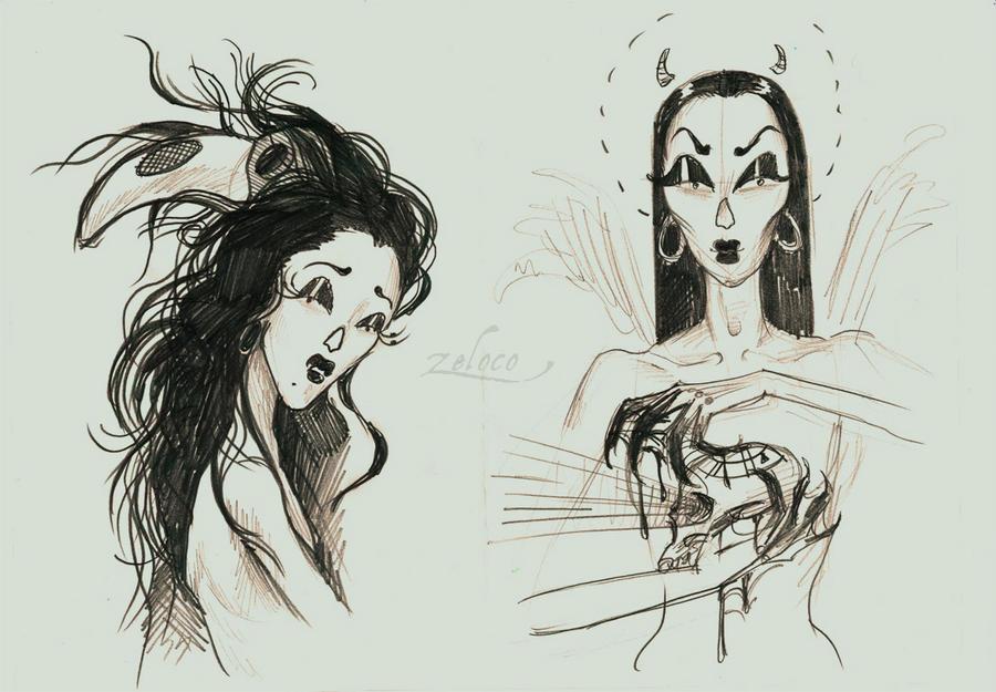 creepy girls