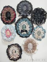 Victorianesque brooches by zeloco