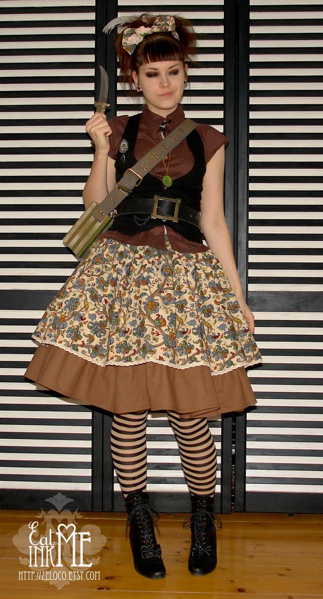 Faraway Adventure skirt by zeloco
