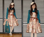 Floral tapestry dress