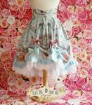 Rococo Polonaise inspired lolita skirt