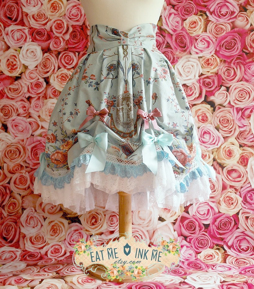 Rococo Polonaise inspired lolita skirt by zeloco