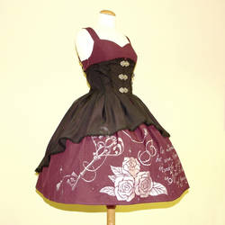 Key Lock jsk dress with chiffon overskirt