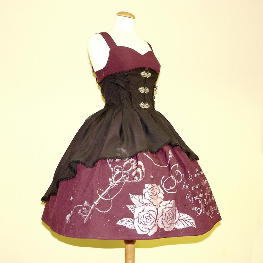Key Lock jsk dress with chiffon overskirt by zeloco