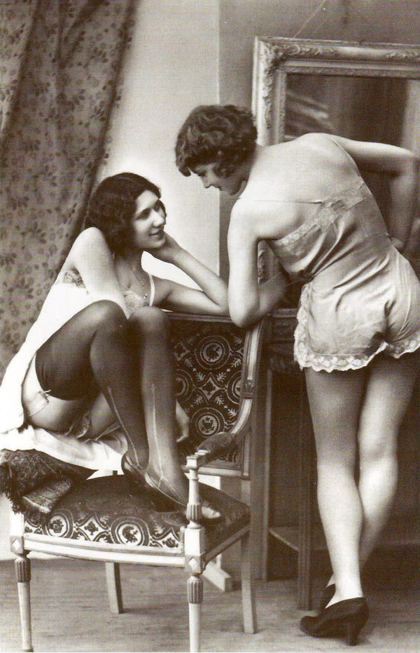 Two Pin Ups 1900 by PostcardsStock