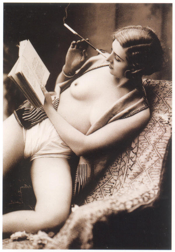Smoking PinUp 1928 by PostcardsStock