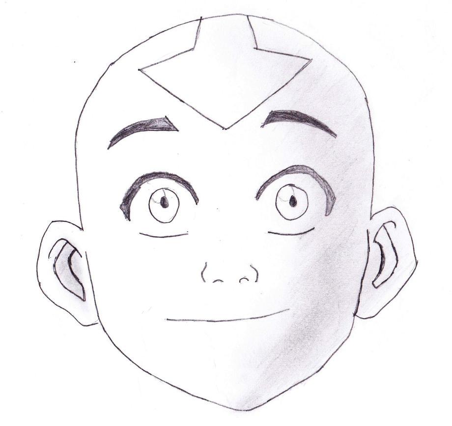 aang avatar the last airbender by tehlildevil