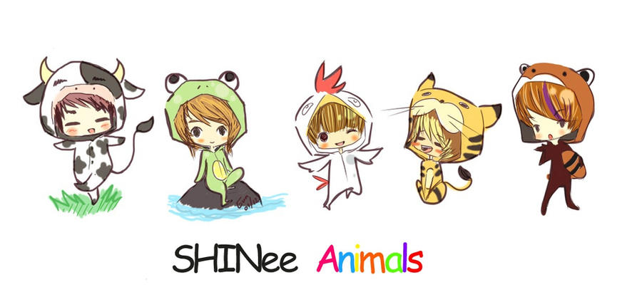 SHINee Animals by rawrPumpkin89