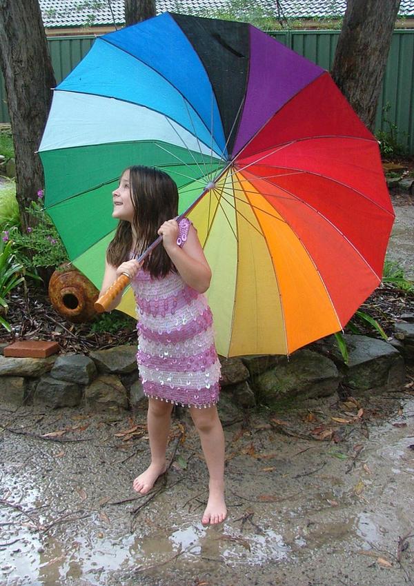 Rainbow Umbrella by astrals-stock