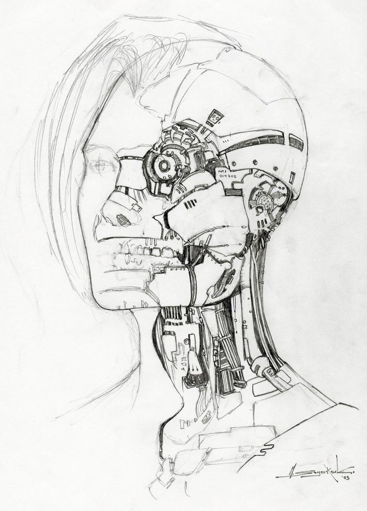 Robot Head by MichalSz...