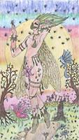 Fairy of sunset