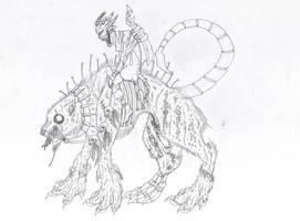 Line-art - A beastrider