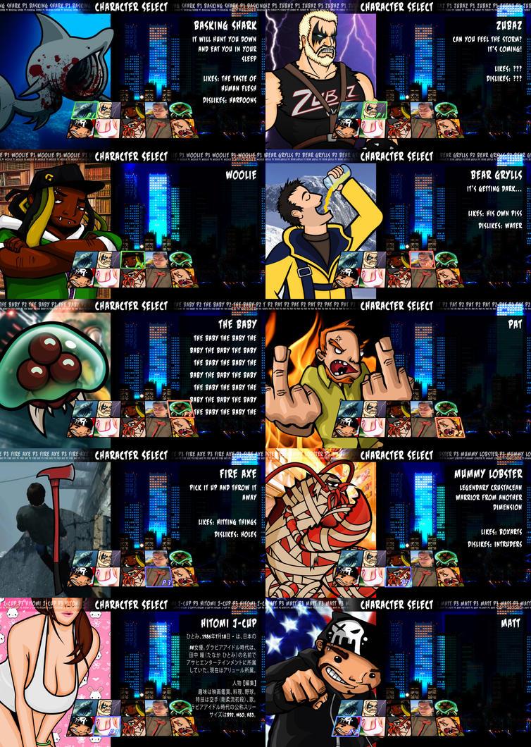 super best friends brawl select screen by 2snacks on deviantart