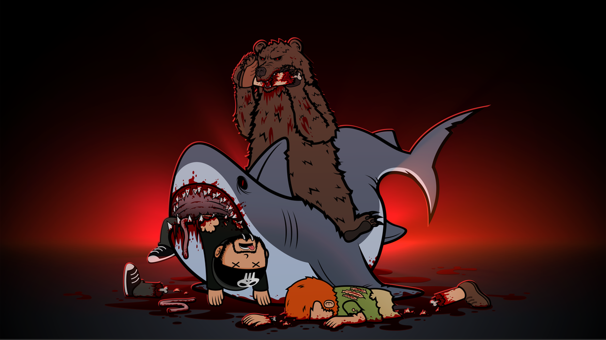Shitstorm V Shark-Bear by 2snacks